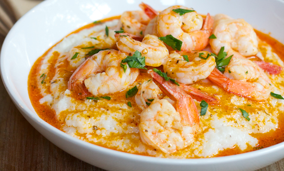 Healthy Shrimp and Grits recipe.