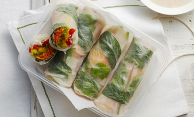 Chicken And Vegetable Rice Paper Rolls Recipe Spry Living