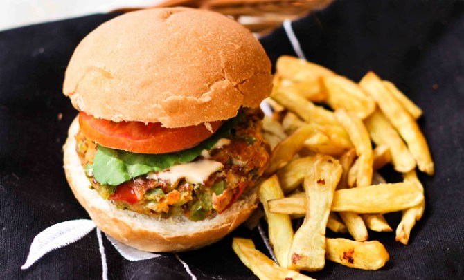 Vegan Red Beans and Oats Burger recipe.