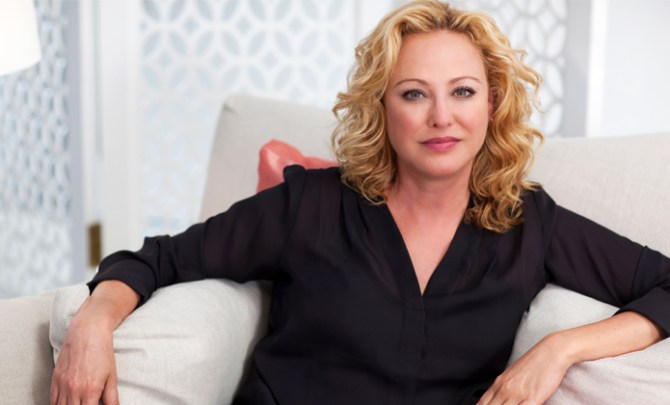 Virginia Madsen talks sex and hot flashes.