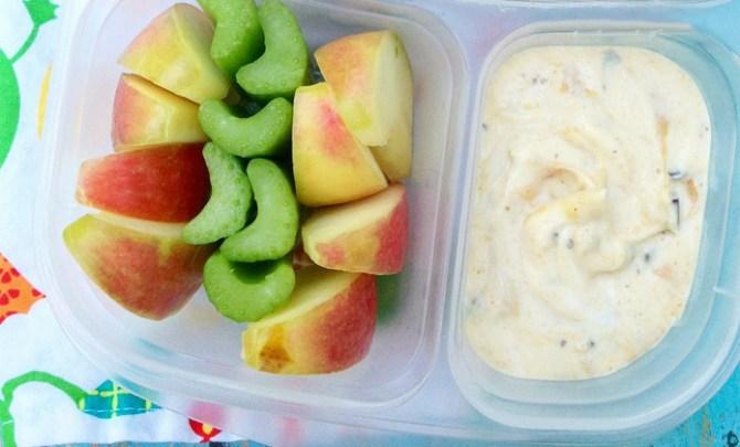 Kid-friendly yogurt dip recipe.