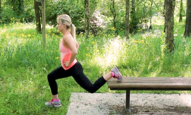 park bench workout