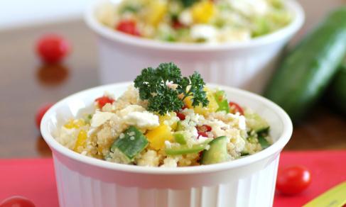 spry greek quinoa salad