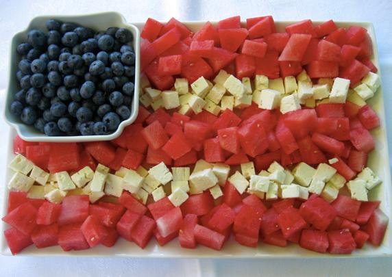 Fourth of July Fruit Flag