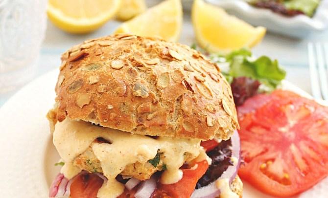 Honey and Figs Salmon Tuna Burger