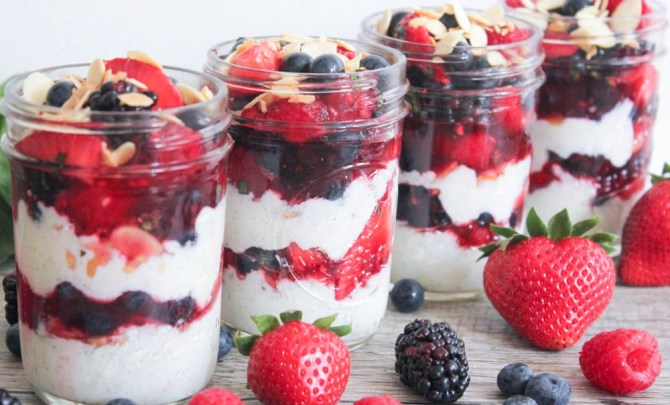 Red, White and Blue Parfaits