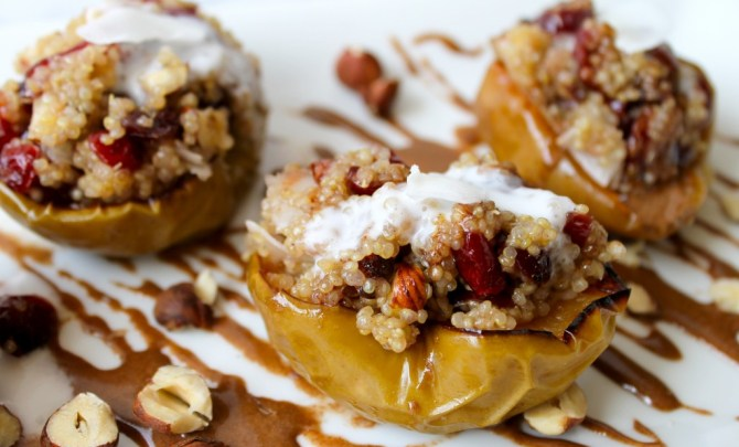 Baked Apples with Quinoa