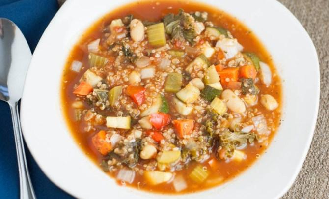 Slow Cooker Vegetable Quinoa Soup