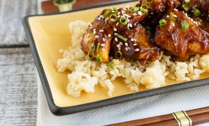 lighter honey sesame chicken