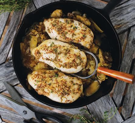 Mustard Herb Roasted Chicken