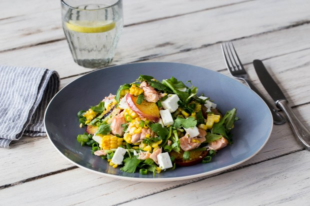 Blistered Corn and Salmon Salad | Spryliving.com