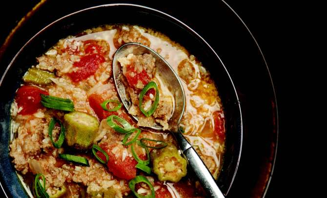 Spicy Sausage Gumbo