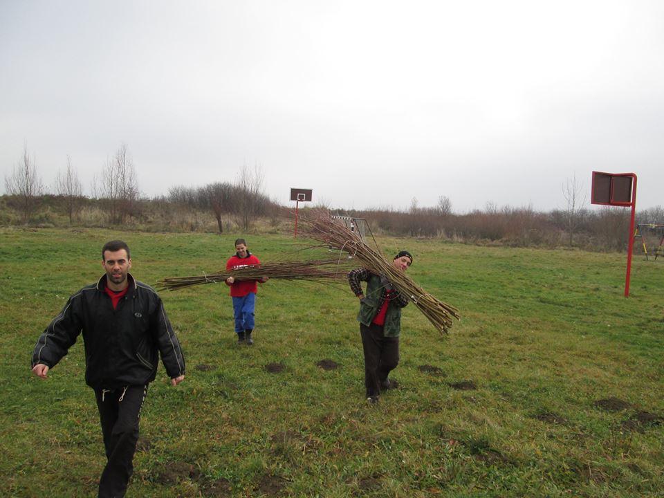 Радна акција младих социјалиста у Пригревици – садња 100 врбa.
