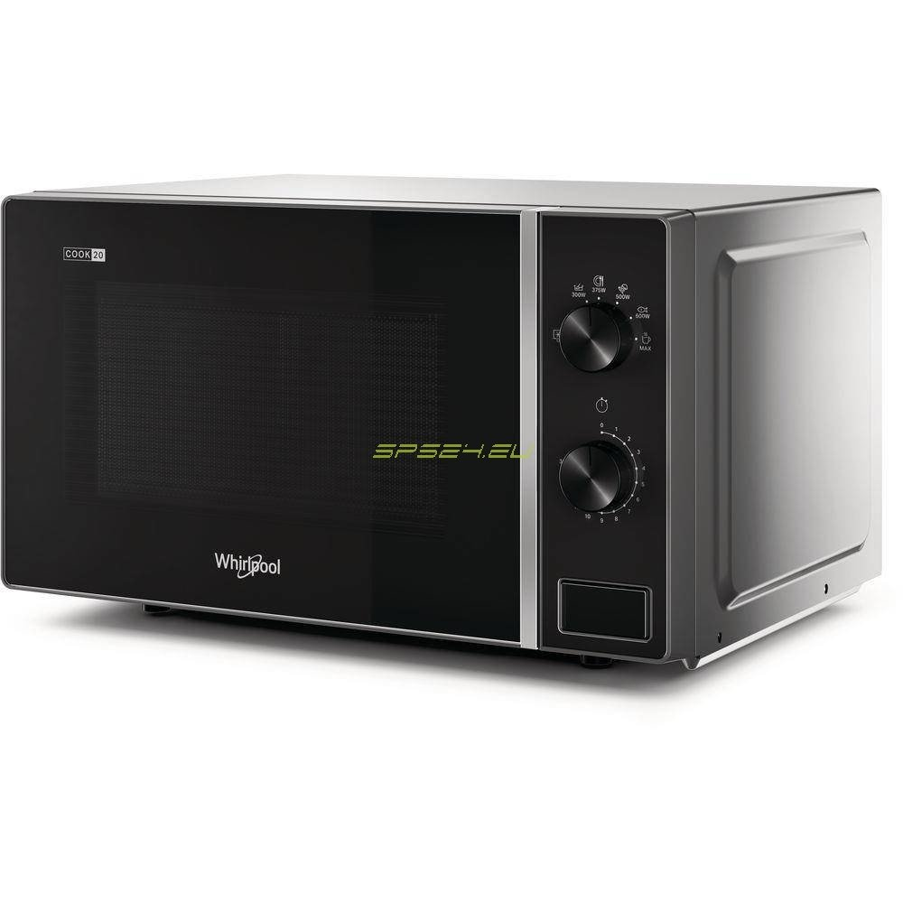 whirlpool mwp 101 sb microwave countertop solo microwave 20 l 700 w black silver
