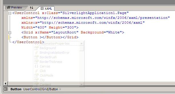 Intellisense in XAML