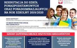 Więcej o: Rekrutacja do szkół ponadpodstawowych i ponadgimnazjalnych 2019/2020