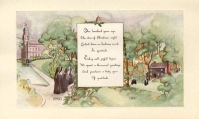 This 1940 Christmas card was sent by the General Administration.