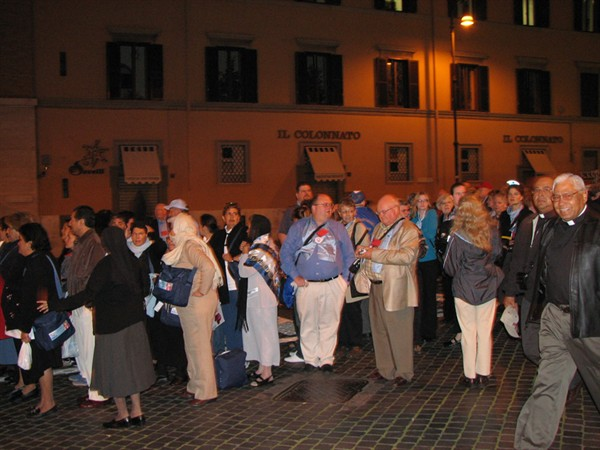 The lines for the canonization Mass started forming at 4:30 a.m.
