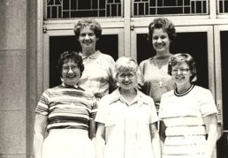 1981 General Chapter delegates — 1st row: Sisters Catherine Doherty (RIP), Ann Jeannette Gootee and Marikay Duffy 2nd row: Sisters Anne Doherty and Kay Manley