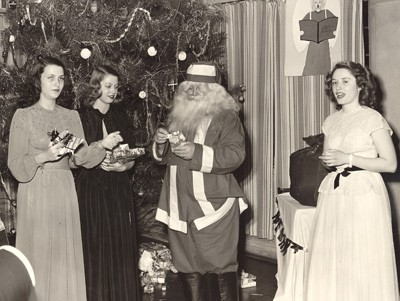 Ladywood, Indianapolis, students celebrate Christmas in this 1946 photo.