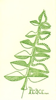This Christmas card was sent by the General Administration in 1976.