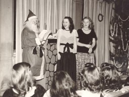 Ladywood, Indianapolis, students share some fun with Santa Claus in this 1945 photo.