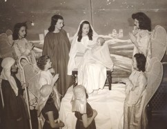 Students at Ladywood School, Indianapolis, participate in a cantata in 1945.