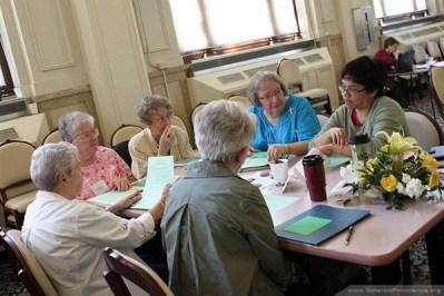 Visible from left: Sisters Rosemary Ward, Barbara Doherty, Martha Joseph Wessel and Dina Bato.