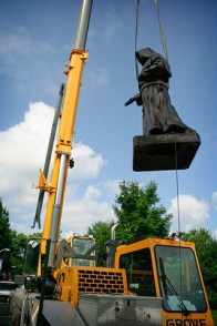 Mother Theodore soars above the workers.