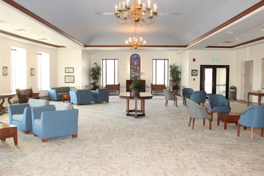The lobby was recently renovated for a fresh, new look.