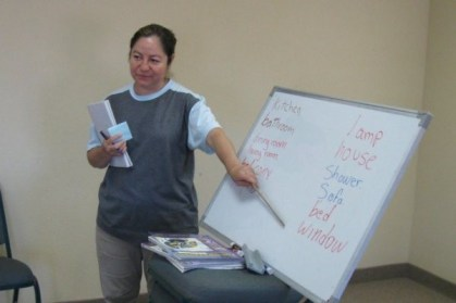Martha Langarica teaches English to Hispanic immigrants for Providence in the Desert. Martha herself learned English after 20 years in the United States thanks to Providence in the Desert.