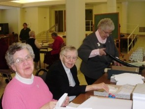 Sisters Joanna Brown, Regina Shaughnessy, and Ann Brendan Burget