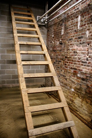 This ladder used to be another way to exit the Crypt, but its trapdoor has since been sealed.