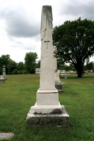 John P. Dufficy is buried in the Catholic part of Woodlawn Cemetery in Terre Haute, Indiana.