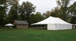 Tents may be set up on the grounds