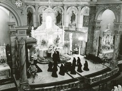 This photo of the Church is from 1950 and shows women who are becoming Sisters of Providence.