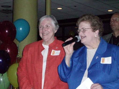 Sister Rita Ann Wade and Sister Barbara McClellend, co-founders of Miracle Place in Indianapolis, a ministry of the Sisters of Providence.