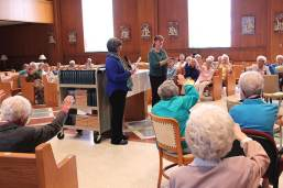 Sister Arrianne Whittaker was honored to be given a chaplet which belonged to a very special sister and mentor on her journey during a mission blessing recently.