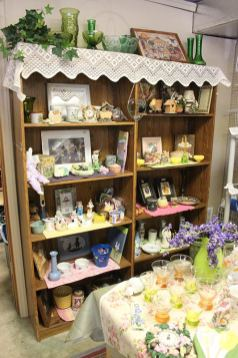 The housewares section at The Helping Hands carefully set up with Easter items.