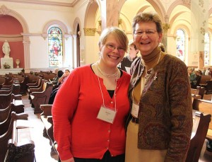 Kaitlyn Willy with Sister Dawn Tomaszewski, her sister companion during the Providence Associate formation process.