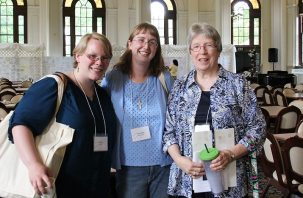 Providence Associate Kaitlyn Willy with Sisters Arrianne Whittaker and Nancy Reynolds.