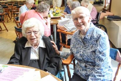 Sister Mary Terrence Haag and Sister Susan Dinnin
