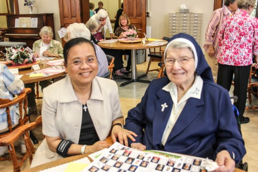 Sister Su-Hsin Huang and Sister Rosalie Marie Weller