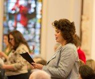 The Rev. Rebecca Zelensky makes her commitments as a Providence Associate.