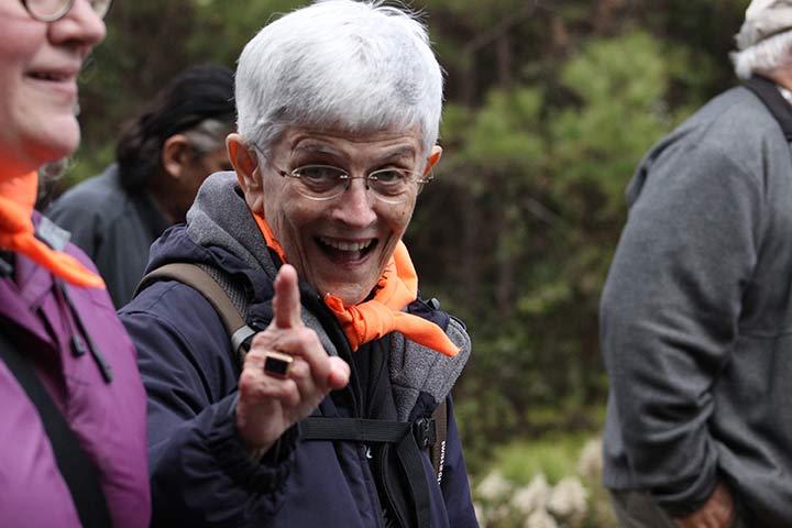 Sister Kathleen Desautels during the 2014 SOA Vigil