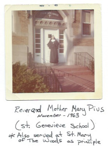 Reverend Mother Mary Pius