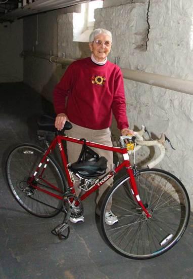 Sister Margaret Norris walks or bikes every day.