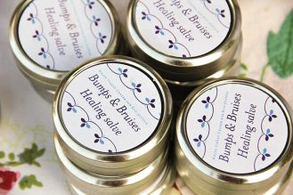 This salve is one of several natural products made by Robyn Morton, associate director of White Violet Center. Learn basic herbal techniques from her at her next workshop from 1-5 p.m. on May 30, 2015.