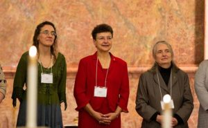 Marilyn Rausch, center, during her commitment ceremony to become a Providence Associate in 2014.
