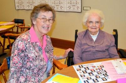 Sister Joan Zlogar and Sister Michaela Galvin